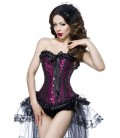 Burlesque-Corsage mit Flockprint - AT13998