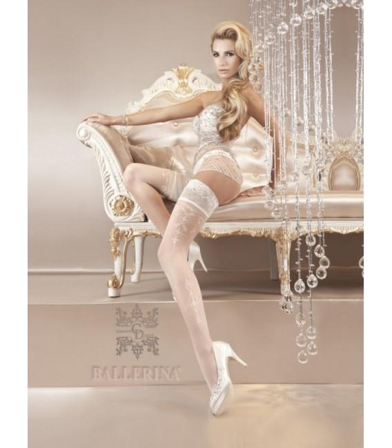 Stockings BA Art. 120 weiß halterlose Strümpfe