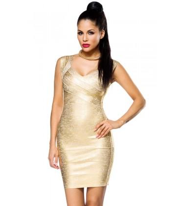 Bandage-Shape-Kleid gold - AT14021