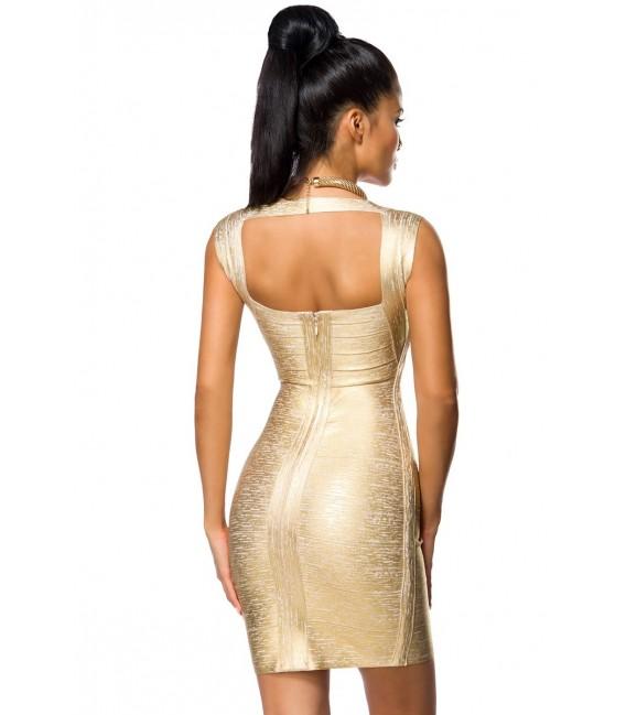 Bandage-Shape-Kleid gold mit Metallic-Beschichtung