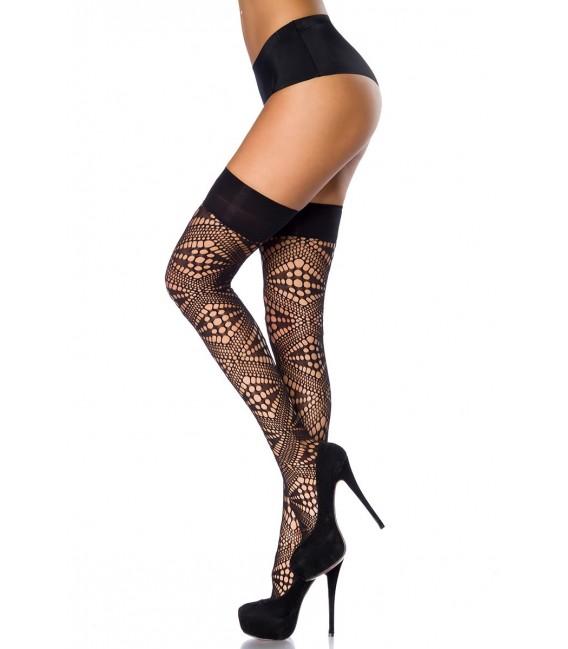 Stockings in Netzoptik mit Loch-Design
