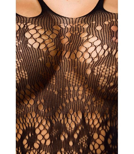 Sexy Bodystocking in Straps-Optik