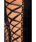 Wetlook-Stockings mit Schnürung