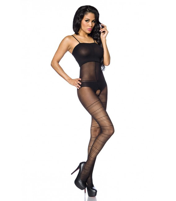 Bodystocking ouvert im Lingerie-Look