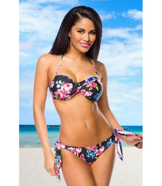 Bandeau-Bikini mit abnehmbarem Neckholder