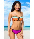 Neopren-Bikini mit Colour-Blocking - AT14201