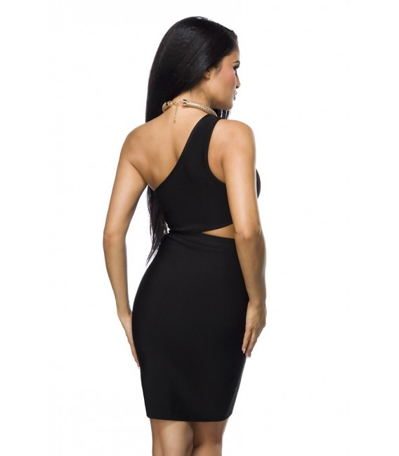 Neckholder Bandage-Shape-Kleid mit Cutout im Bauchbereich