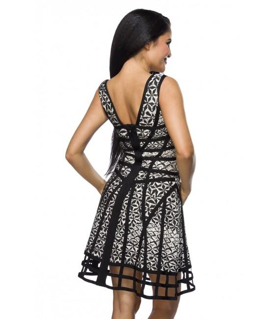 Bandage-Shape-Kleid mit weit ausgestelltem Rockteil