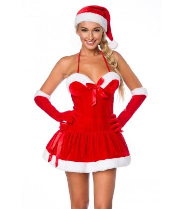 Weihnachts-Kleid mit Mütze - AT14355