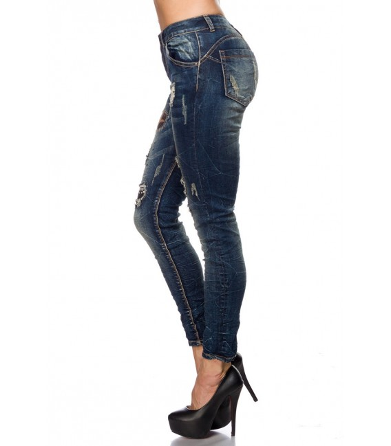 Used-Jeans mit Five-Pocket-Style