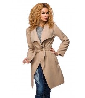 Wickelmantel beige - AT14426