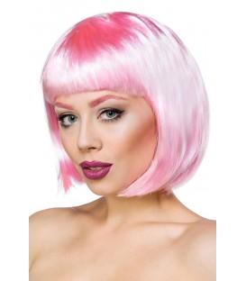 Bob-Perücke rosa - AT14433