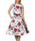 Vintage-Kleid mit Gürtel - AT14732