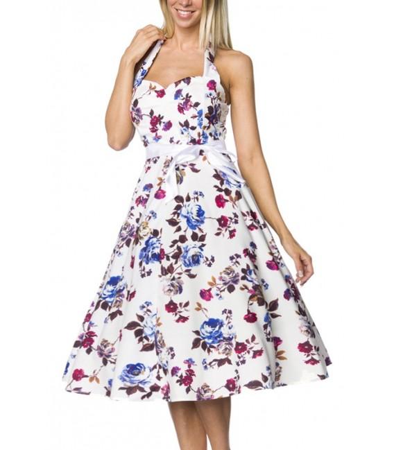 Vintage-Kleid mit Gürtelband - AT14733