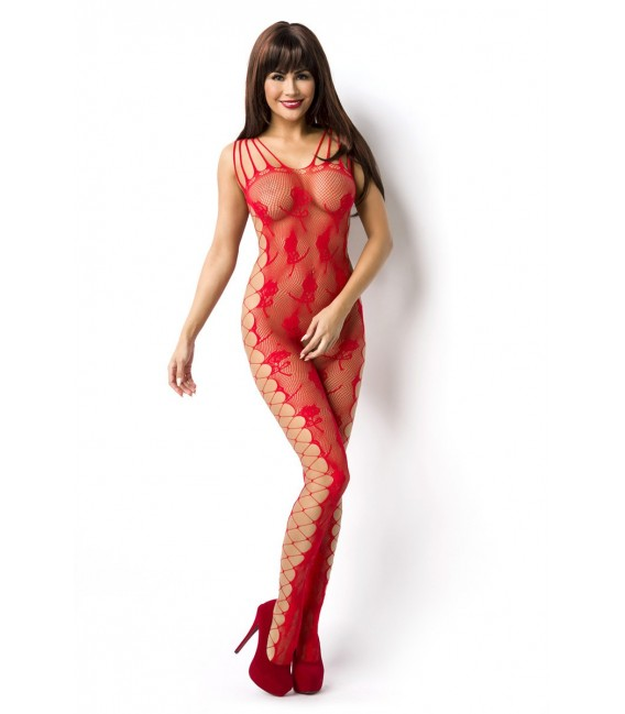 Bodystocking ouvert rot - AT14828