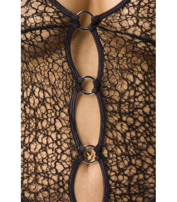 Spitzen-Body mit Neckholder-Auschnitt zum Binden
