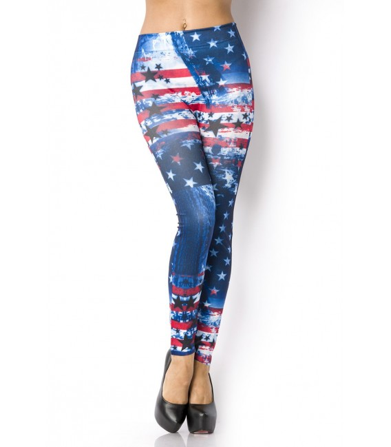 Leggings im angesagten Flaggenstyle mit Stars-and-Strips-Print
