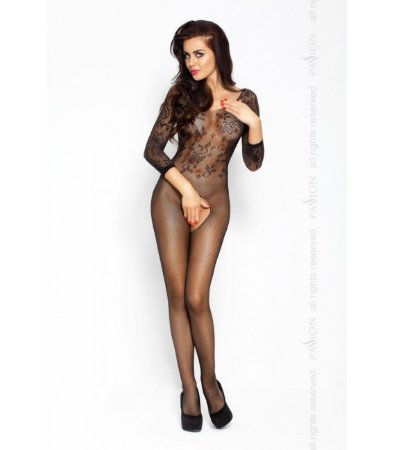 Catsuit PE Bodystocking BS007 Schwarz