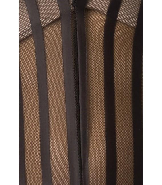 Overall aus transparentem Material und ausgestellten Beinen