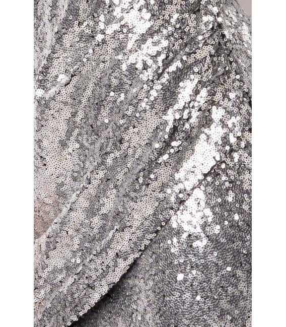 Pailletten-Kleid silber - AT14933 - FashionMoon