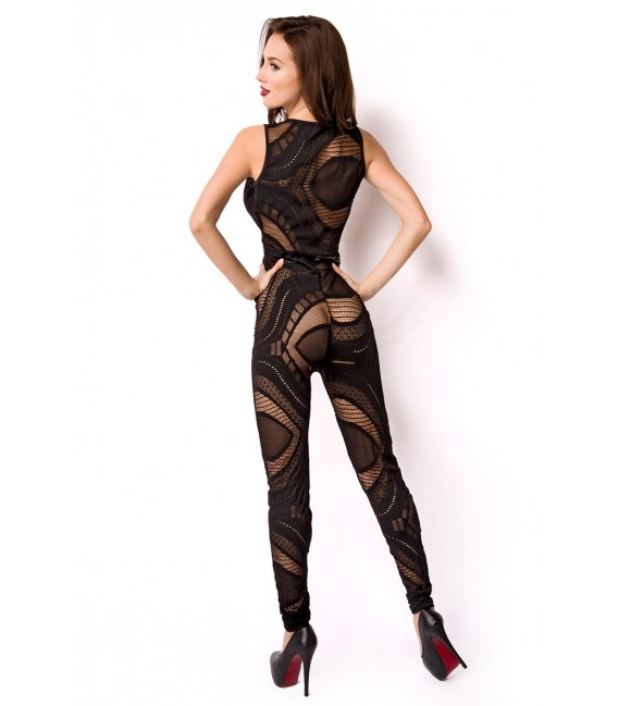 Overall aus transparentem Material mit langem Bein