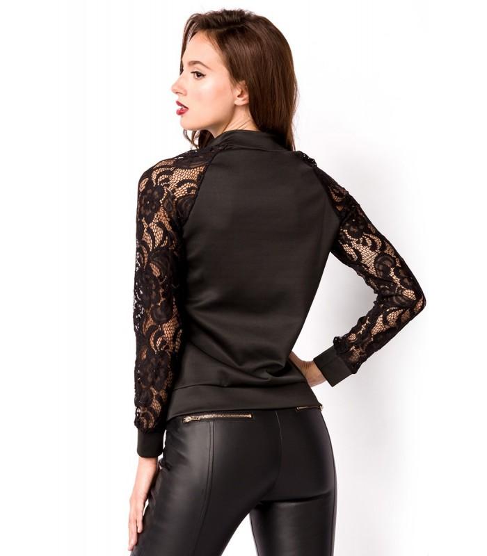 Jacke schwarz - AT15027 - FashionMoon