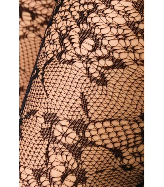 Netzstrumpfhose mit floralerm Muster