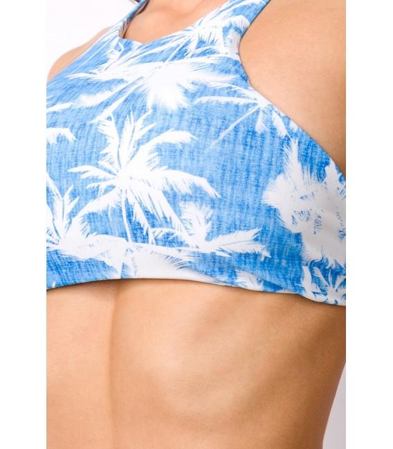 Sportlicher Bikini blau/weiß