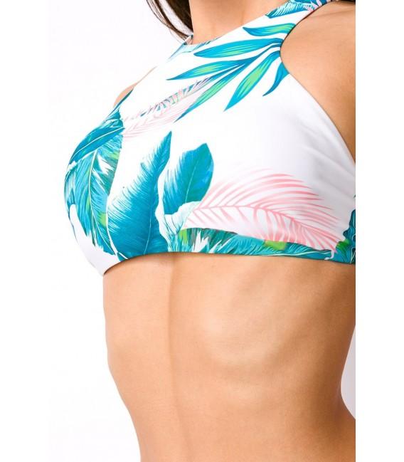 Sportlicher Bikini weiß/türkis