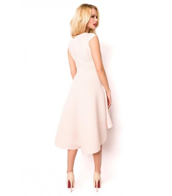 Kleid mit asymmetrischem Saum rosa