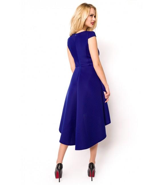 Kleid mit asymmetrischem Saum blau