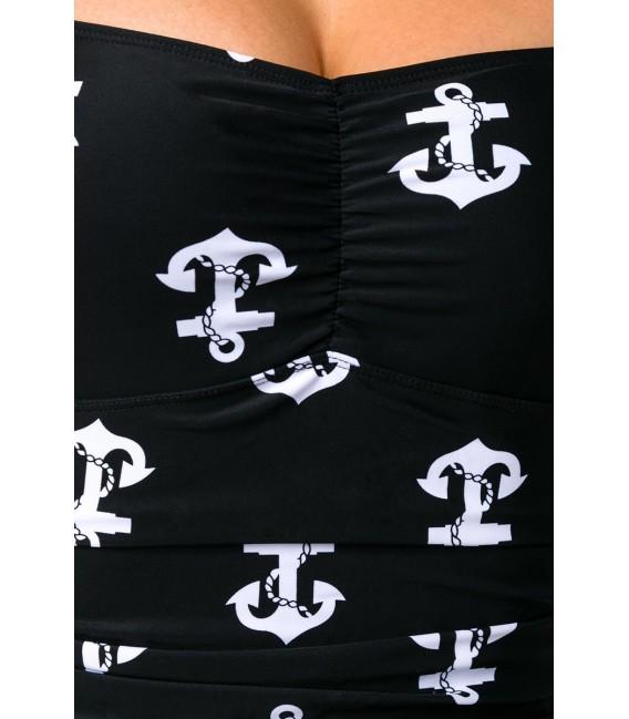 Badeanzug mit Ankerprint zum Binden im Nacken