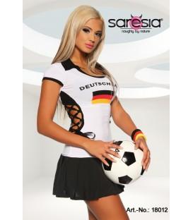 Minikleid-Trikot von Saresia im Nationaltrikot-Look