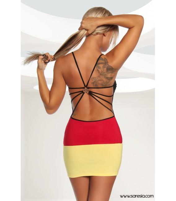 Trendiges Minikleid von Saresia in den Deutschland-Farben