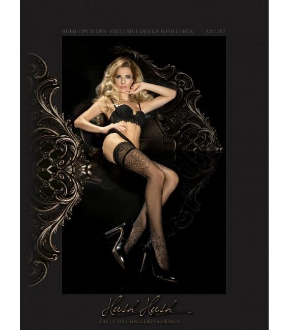 Stockings BA Art. 287 halterlose Strümpfe schwarz 20den