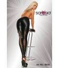 Wetlook-Leggings schwarz - AT18035