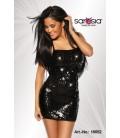 Pailletten-Kleid schwarz - AT18052