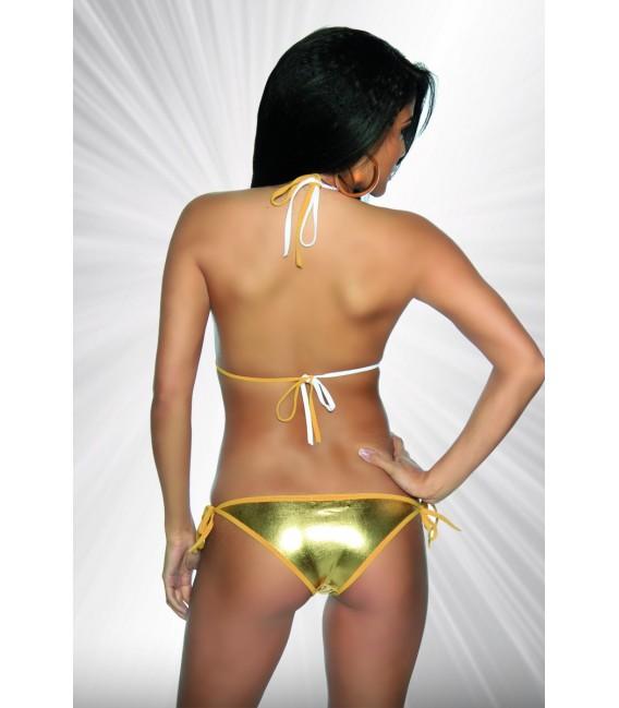 raffiniert gekreuzter Monokini von Saresia gold/silber