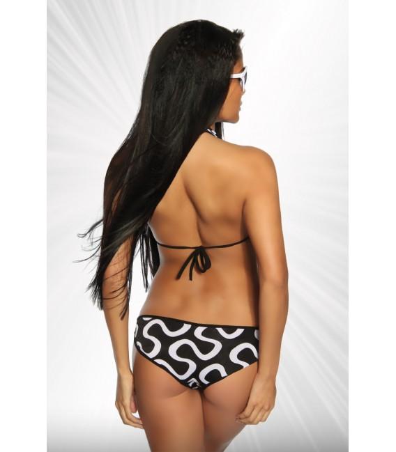 Monokini von Saresia mit sexy Cutouts schwarz/weiß