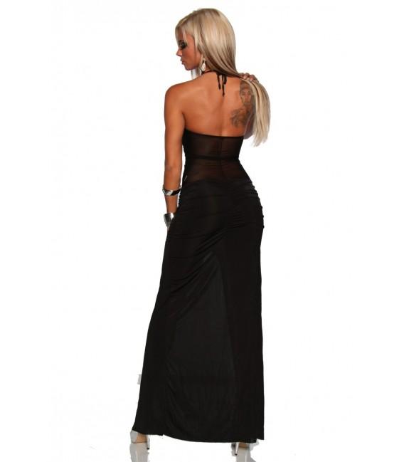 Langes Kleid mit Strasssteinen von Saresia