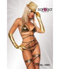 Gogo-Wickel-Bikini gold/schwarz - AT18090