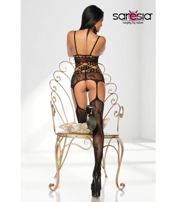 Bodystocking mit reizvollen Ausschnitten von Saresia