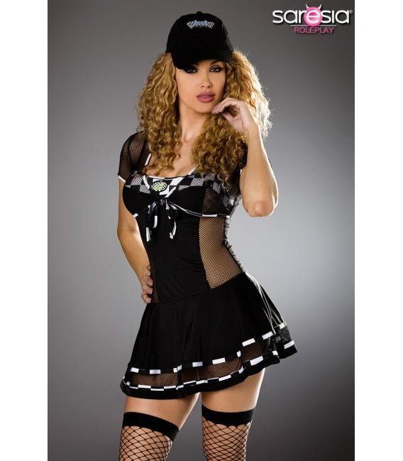 Racing-Kostüm von Saresia roleplay, besteht aus Kleid, Bolero, Cap und String.