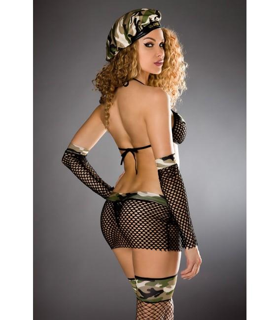 Army Set von Saresia roleplay, besteht aus Oberteil, Rock, Armstulpen, Stockings und Mütze.