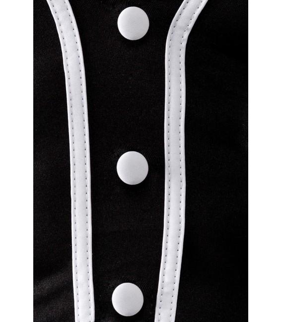 Barkeeper-Kostüm von Saresia MAN roleplay, bestehend aus Schleife, Weste, Manschetten und Slip.