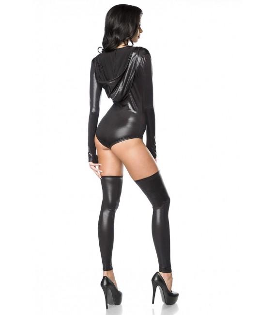 Body-Set im Metallic Look von Saresia schwarz