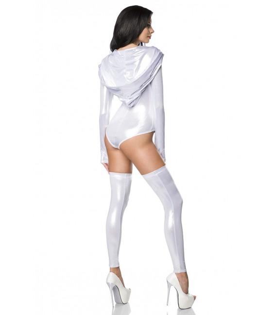 Body-Set im Metallic Look mit Beinstulpen von Saresia