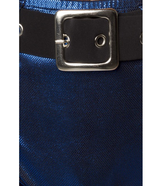 Gogo-Set im Metallic Look von Saresia blau