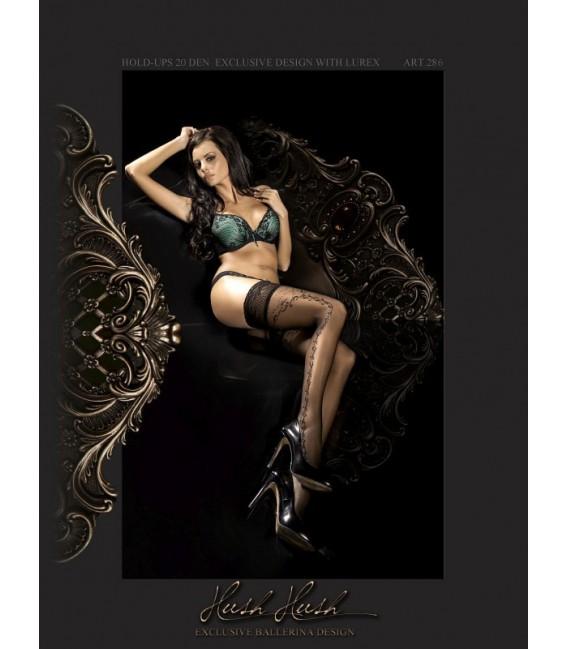 Stockings BA Art. 286 halterlose Strümpfe schwarz 20den