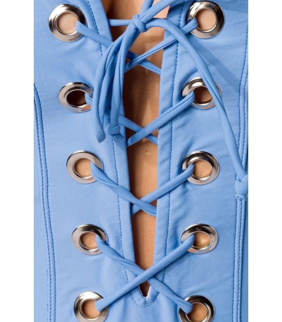 Swimsuit blau mit Schnürung im Vorderteil